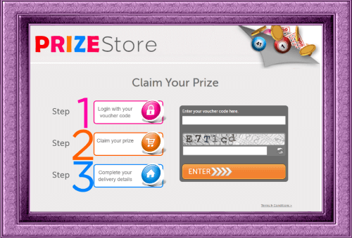 The Prize Store at 888ladies