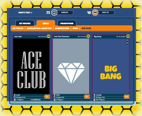 Join the Ace Club Bingo Games