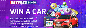 Betfred Bingo gives you the chance to win a car for Christmas