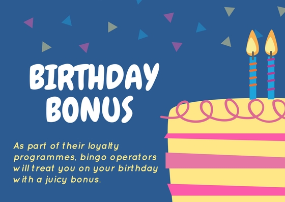 VIP Schemes at Bingo Websites Offer Birthday Gifts