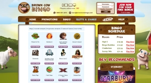 brown cow bingo games