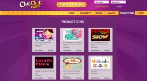 chit chat bingo promotions
