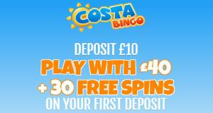 Costa bingo welcome