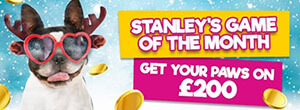 At GiveBack Bingo Stanley's game of the month for December is Santa's Stash, which gives you a cash prize