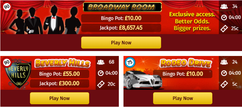 Dazzling Selection of 75-Ball and 90-Ball Rooms at Glossy Bingo