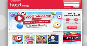 Heart bingo home