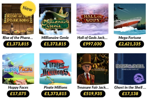Some of the Jackpot Slots Available at Wink Bingo