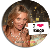 Kate Moss Enjoying the Bingo at Home