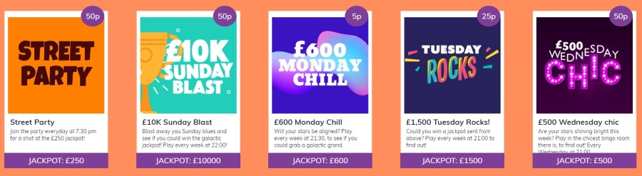 Jackpot Daily Promotions at Kozmo Bingo