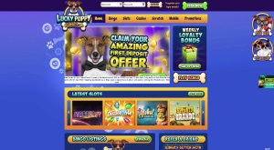Lucky Puppy Bingo - play loads of great bingo and slots games