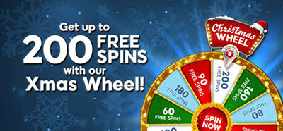 Spin the 'Xmas Wheel' at Posh Bingo and earn a lot of free spins