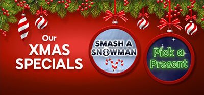 Find a variety of 'Xmas Specials' at Red Bus Bingo and win many games bonus rewards