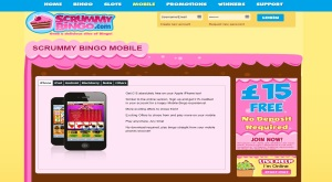 scrummy bingo mobile