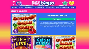 take a break bingo rooms