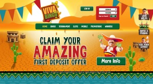 Viva La Bingo Website Homepage