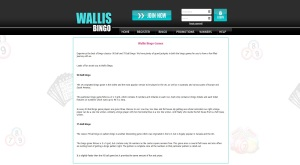 Wallis Bingo - find all games