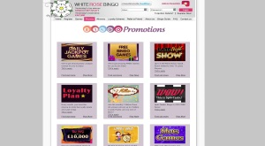 White Rose Bingo - promo page of the website